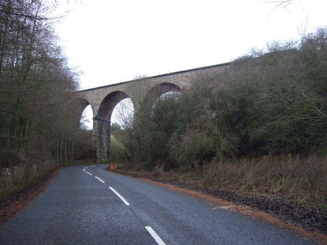 Old railway viaduct over the Duddo Burn