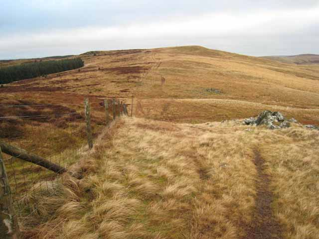 Pennine Way looking northwards from Windy Crag