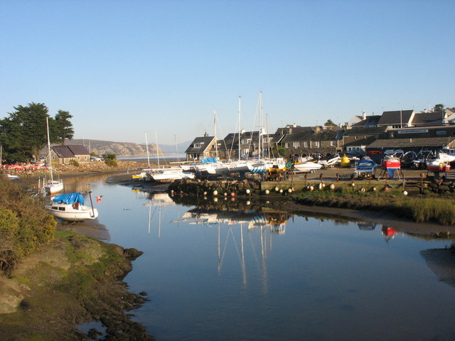 The harbour from Pont Abersoch