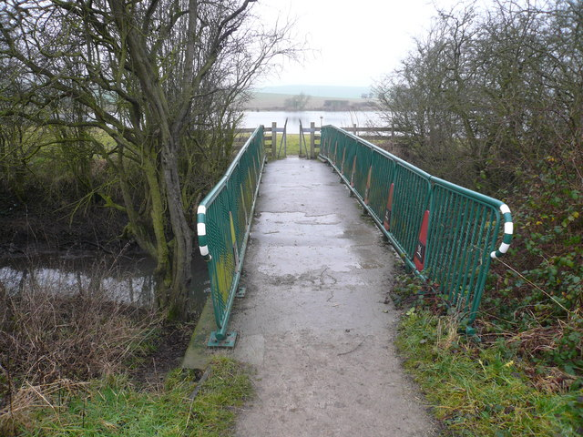 Footbridge Crossing the River Doe Lea