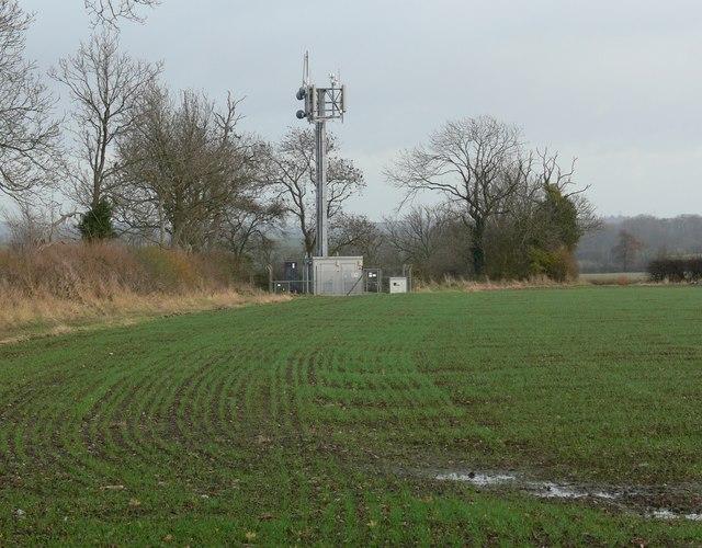 Radio mast off Bambury Lane
