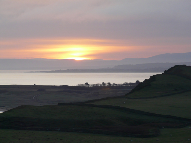 Near Lothmore: sunset over the Dornoch Firth