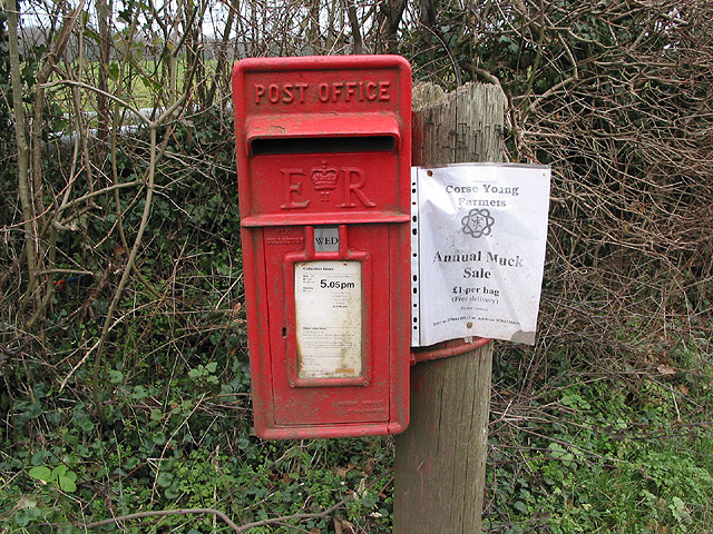The postbox at Anthony's Cross