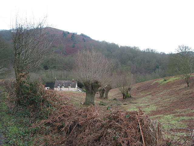 House on lower slopes of Midsummer Hill