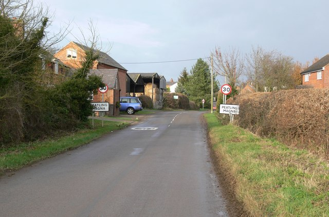 Main Street enters Peatling Magna