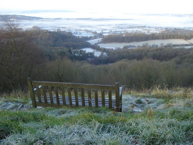 Seat on the Worcestershire Beacon path - 2