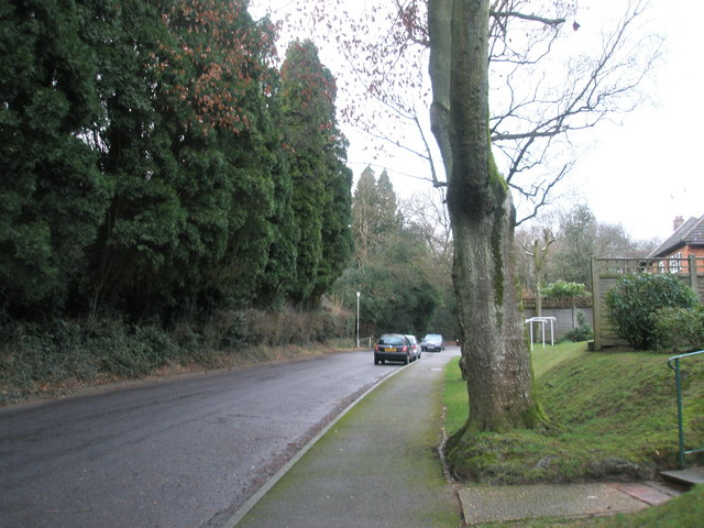Looking north west up High Lane