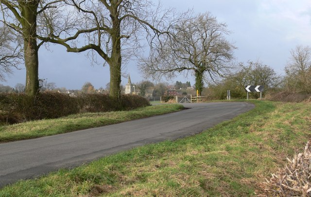 Road to Peatling Magna