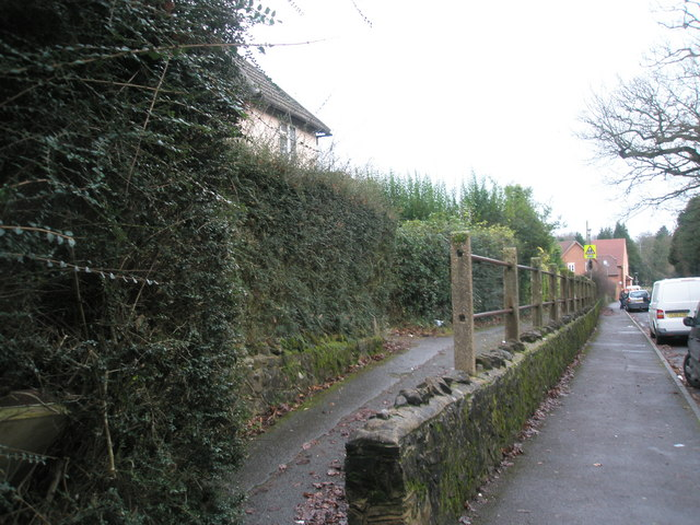 Raised path in High Lane