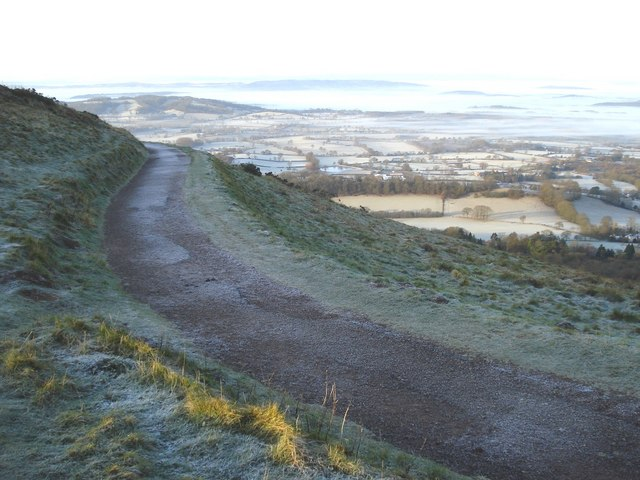 Track from the Worcestershire Beacon