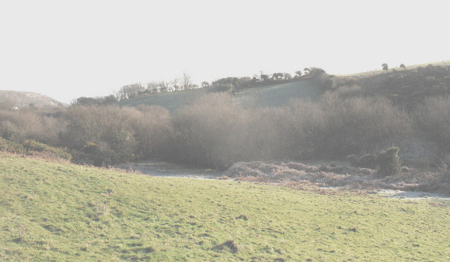 A meltwater channel east of Oerddwr