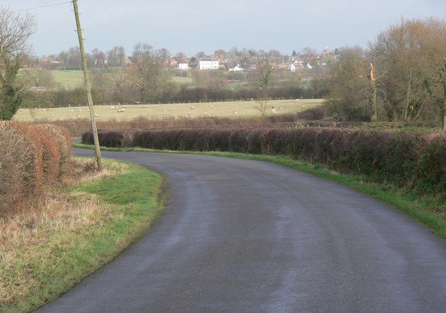 Lutterworth Road towards Arnesby