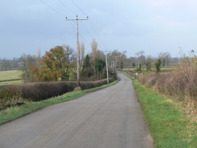 The road to Peatling Magna