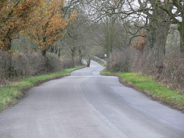 Bruntingthorpe Road towards Peatling Parva