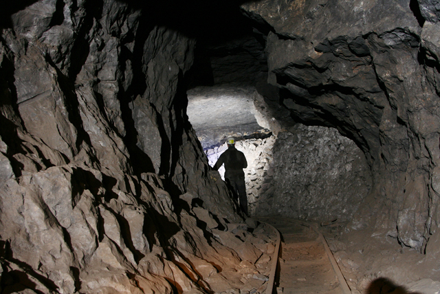The underground workings of Smallcleugh Mine