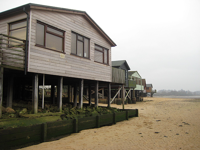 Stilt houses at Wrabness Point