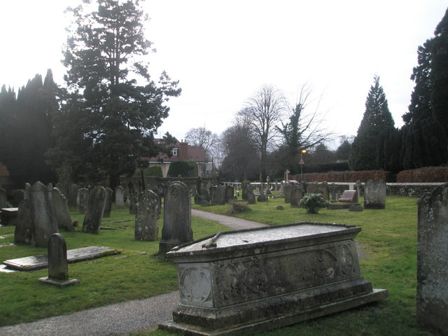 St Bartholomew's Churchyard on New Year's Day