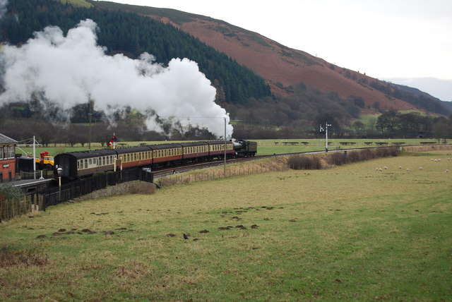 The New Years Day 13.50 for Llangollen leaves Carrog