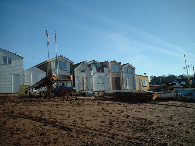 Teignmouth Beach Huts and Shaldon Ferry Landing Gangway