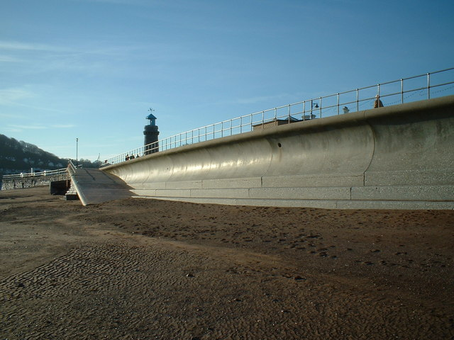 Sea Wall and Lighthouse, Teignmouth