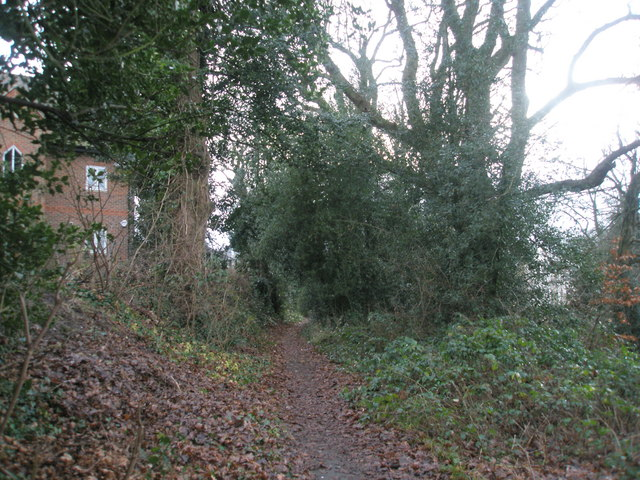 Path alongside railway line going towards Haslemere Station