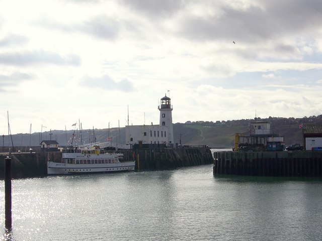 Scarborough Harbour and Light