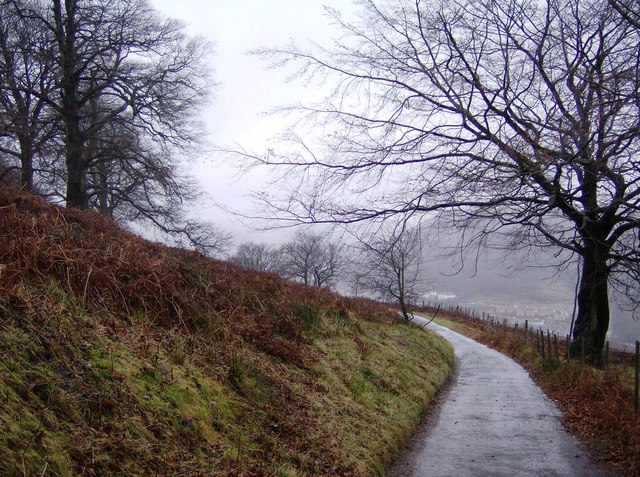 Road across Mynydd Machen Common