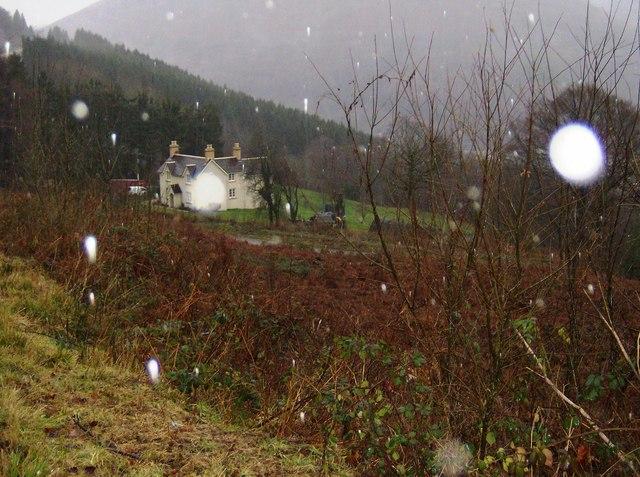 Raining again above Risca