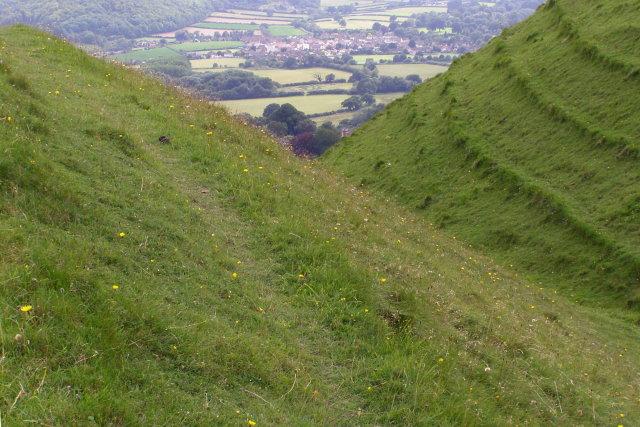 Iron-age earthworks, Hambledon Hill