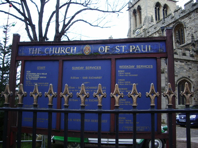 The Church of St Paul's, Bedford, Sign