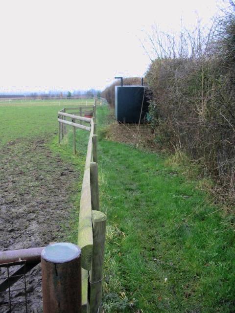Footpath alongside a paddock