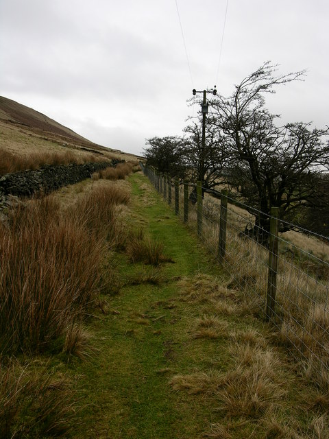 Rossendale Way below Fecit Hill