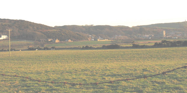 View south across the flood plain of the Soch towards Llanengan