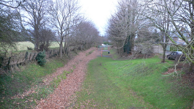 Playground on old railway line, Ruthin