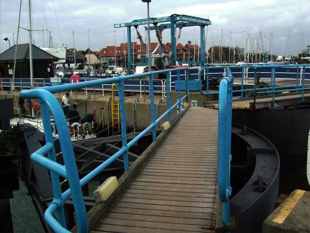 Hythe Marina Lock