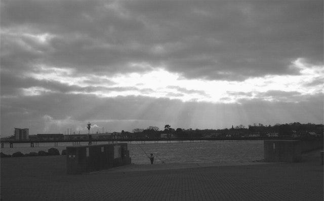 Fishing from Hythe Marina