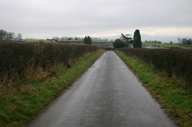 Lane approaching Pencaemelyn