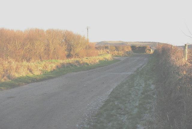 Road east of Rhydolion
