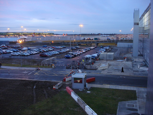 View just to the west of Stansted Airport terminal building