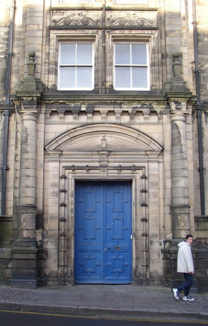Doorway to the Storey Institute, Meeting House Lane, Lancaster
