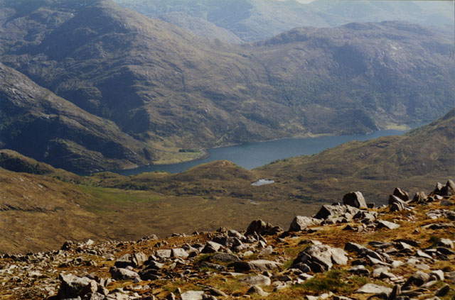 View south southwest from Sgurr na Sgine