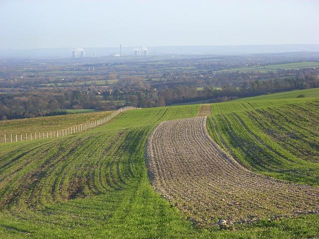 Farmland on the downs, Uffington