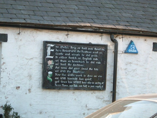 Esk Boathouse, epitaph to Will the boatman