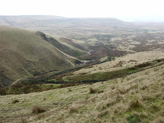 View down Grain Brook