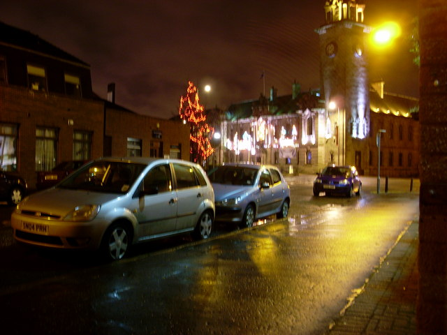 Clydebank Town Hall Christmas decorations