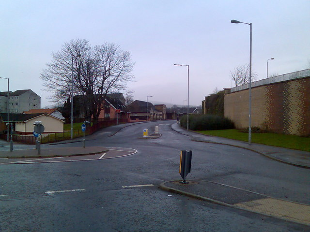Looking to Radnor Park, Clydebank