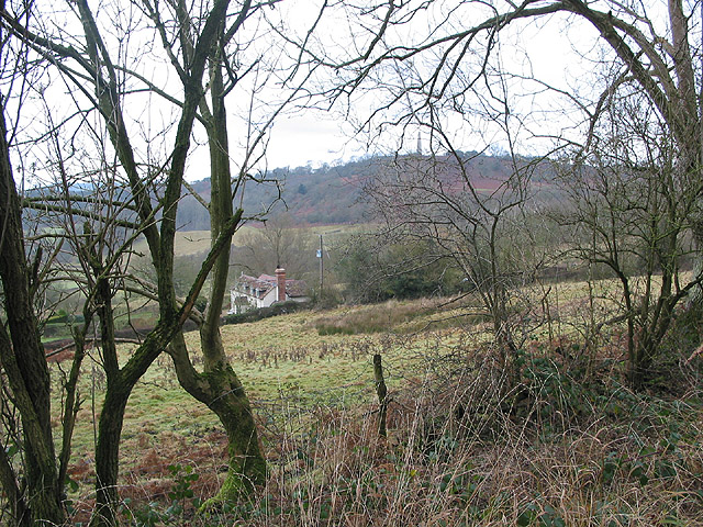 House on the hillside near Eastnor Park