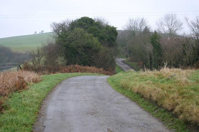 Lane nearing Pen-y-lan