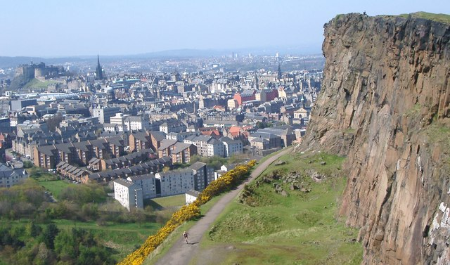 Edinburgh Castle and the Old Town from Salisbury Crags