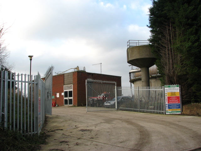 Entrance to sewage works